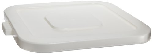 32 Gallon Huskee Lid - Continental 2801WH 32-Gallon Huskee LLDPE Waste Lid, Square, White