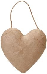 Corein.dinations Paper Mache Puffy Heart 5.5in. Bulk Buy 6-Pack