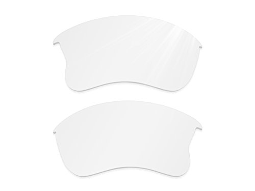 Glintbay Harden Coated Replacement Lenses for Oakley Flak Jacket XLJ Sunglasses - Crystal Clear - White Small Sunglasses Off