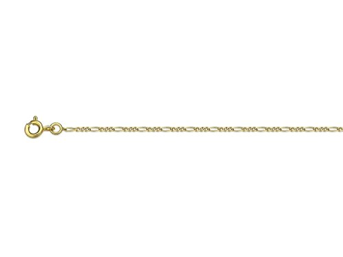 Collier maille Alternée Or jaune 18k 1.3 mm 50 cm Or jaune (750/1000)