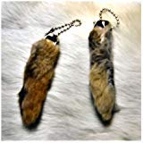 Rabbit Foot Keychain-Natural]()