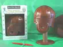 Mini Rust Brown Leather Football Helmet (1925-1940s) -