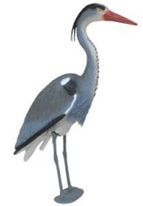 Blue Heron Pond - Blue Heron Decoy with Legs & Stake 29''(76cm) Tall