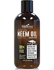 Neem Oil Organic & Wild Crafted Pure Cold Pressed Unrefined Cosmetic Grade 12 oz for Skincare, Hair Care, and Natural Bug...