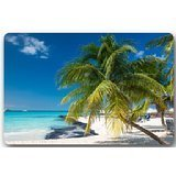 Sandy-Tropical-Paradise-Beach-with-Palm-Trees-and-the-Sea-Ocean-Theme-Non-Slip-Indoor-Outdoor-Door-Mat-Doormat-Home-Decor-Rectangle-236L-x-157W316-Thickness