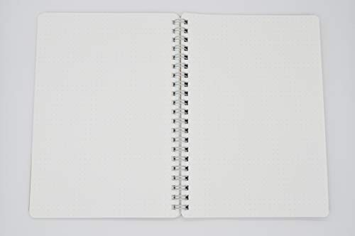 Muji Recycle Paper Double-ring Dot Grid Notebook - A5, 70 sheets, with rubber strip