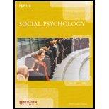 Psy110 Social Psychology Strayer University, Stephen L. Franzoi, 0077379918