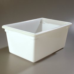 Carlisle 1064302 StorPlus Polyethylene Food Storage Box, 16.6 Gallon Capacity, White (Case of 3) by Carlisle