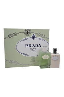 Prada Milano Infusion D'Iris by Prada for Women - 2 Pc Gift Set 3.4oz EDT Spray, 3.4oz Hydrating Body - Body Hydrating Diris Lotion Infusion Prada
