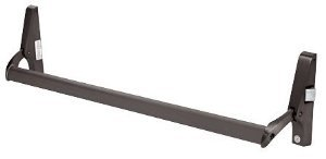 CRL Dark Bronze Cross Bar Panic Exit Device - Right Hand Reverse Bevel Rim - DL1190RHRDU