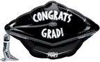 """Congrats Grad Cap Black 18"""" Junior Shape Balloon"""