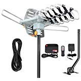 HD Amplified Digital HDTV Antenna - 150 Mile Motorized 360 Degree Rotation- TA Amplified HD TV Antenna for 2 TVs Support UHF/VHF 4K 1080P Channels Wireless by PACOSO