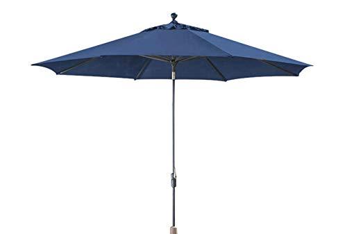 - Sunbrella Canopy Outdoor Patio Hand Crank Auto-Tilt 10' Market Umbrella (Indigo)