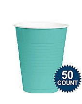 Bulk Plastic Cups | 50ct (16oz, Robin's Egg - Cup Egg Blue