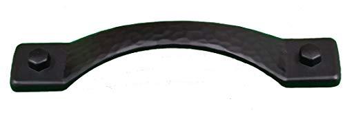 - Rustic Hammered Drawer Pull Cabinet Pull Matte Black (Set of 10)