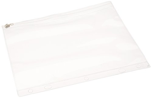 Vinyl 3 Ring Binder (School Smart Zippered Vinyl Pouch for Two or Three Ring Binders - Pack of 24 - Clear and White)