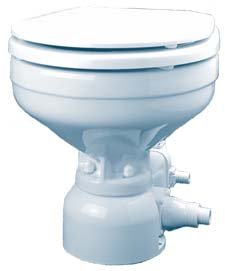 ehold Electric Toilet - Integral Sea Water - Straight & 90 Discharge - 12V ()