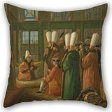 [Uloveme Oil Painting Francis Smith - The Grand Vizier Giving Audience To The English Ambassador Pillowcase 16 X 16 Inches / 40 By 40 Cm Gift Or Decor For Divan,bedding,husband,bedroom,boy] (Diy Sushi Dog Costume)