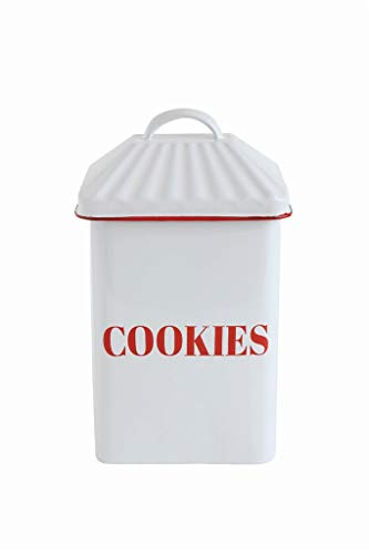 (Country Christmas Enameled Cookie Canister)