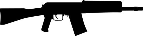 Saiga 12K Gun Rifle Military Car Decal Window Sticker (WHITE COLOR DECAL) - Die Cut Decal Bumper Sticker For Windows, Cars, Trucks, Laptops, Etc.