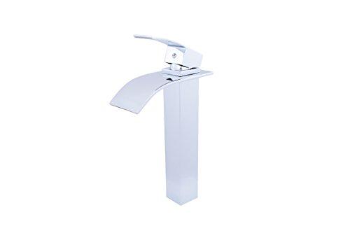 (Novatto GF-136CH ECLIPSE Single Lever Waterfall Vessel Faucet, Chrome)