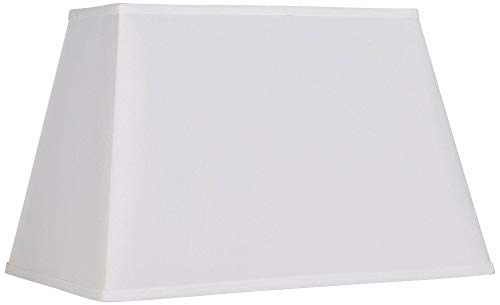 White Rectangular Shade 14/6x18/12x12 (Spider) - Brentwood