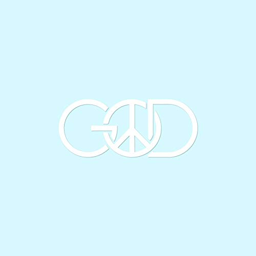 "God Peace Sign - Vinyl Decal Sticker - 6"" x 2.5"" - White from Southern Decalz"