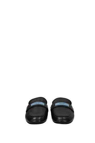 Prada Slippers and Clogs Women - Leather (1D4791GLACE) UK Black 14G1SeG