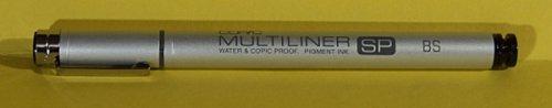 Copic Multiliner SP Waterproof Pigment Brush Pen, Brush Tip, Black Ink (MLSPBP) Copic Multiliner Sp Pigment