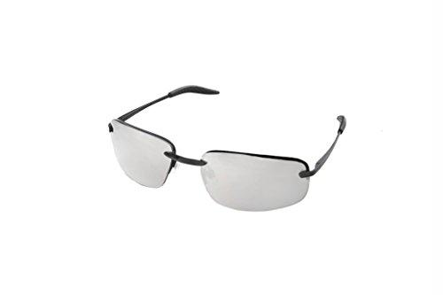 Hot Optix Men's Fashion Springe Hinge Rectangle Rimless - Sunglasses Rimless Rectangle