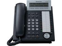 Panasonic KX-NT343NE-B IP-Systemtelefon (3-Zeilen Display, 24 Tasten, Freisprechen, HS Anschluss, Switch, opt. Erweiterungskonsole) schwarz