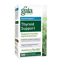 Gaia Herbs, Thyroid Support, 120 Count