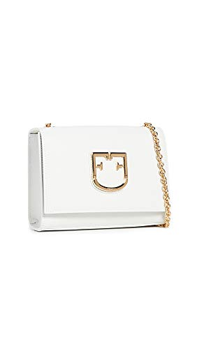 Furla Women's Viva Mini Pouchette Bag, Chalk, White, Off White, One Size