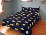 Iowa Reversible Comforter Set - Twin by College Covers