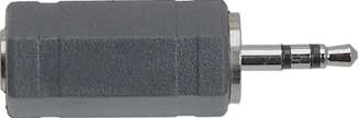 Hosa GPM-471 Analog Audio Adaptor, 3.5mm TRS to 2.5mm TRS