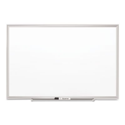 Classic Series Porcelain Magnetic Board, 60 x 36, White, Silver Aluminum Frame, Sold as 1 Each