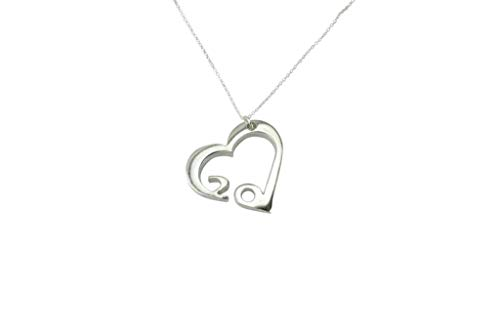 20 Year Wedding Anniversary Necklace - Heart Shaped with 20 Year Cut Out Design