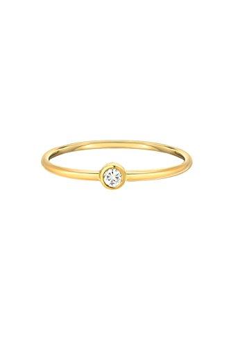 Solitaire Bezel Diamond Ring - 14k gold bezel diamond ring, small diamond solitaire ring