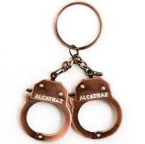 San Francisco Alcatraz Handcuff Key Chain Copper Bronze 7 7//18