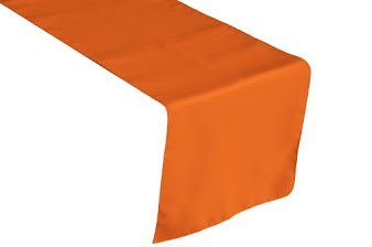 LA Linen Polyester Poplin Table Runner, 14 by 108-Inch, Orange (Orange Table Runner compare prices)