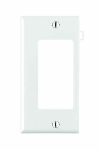 Sectional Nylon Wall Plate (Leviton PSE26-W 1-Gang Decora/GFCI Device Wallplate, Sectional, Thermoplastic Nylon, Device Mount, End Panel, White)