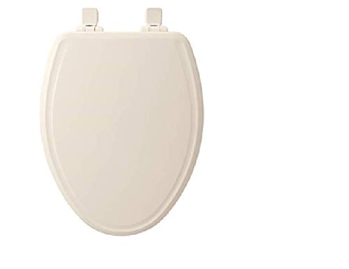 (Bemis 600E3 346 Adjustable StaTite Round-front Toilet Seat with Whisper Close, Linen)