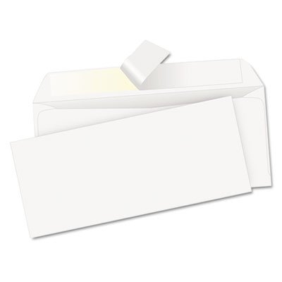 Redi-Strip Security Tinted Envelope, Contemporary, #10, White, 500/Box, Sold as 500 (Security Tinted Redi Strip)