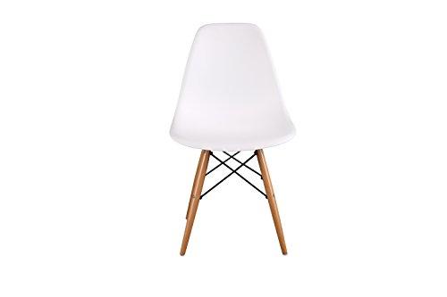 HNN Home Chaise En Polypropylène Et Bois De Hêtre, Blanc, 55 X 47 X 82 Cm:  Amazon.fr: Cuisine U0026 Maison