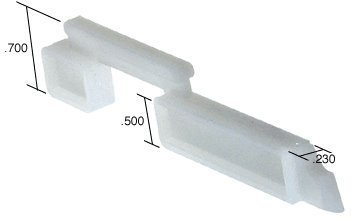 CRL Right Hand Slide Bolt - .230'' Width; .700'' Height - Bulk 100 Pack by C.R. Laurence