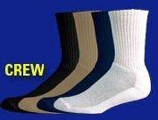 Jox Sox Men's Crew Socks (Shoe Size 7-12, Black)