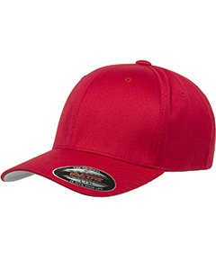 Flexfit Wooly 6-Panel Cap (6277)- Red,Large/X-Large