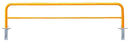 サンポール アーチ 差込式フタ付 車止めポール 直径60.5mm W3000×H650 黄 メーカー直送 FAH-7SF30-650(Y)   B07MXCNDVS