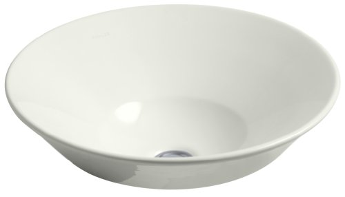 KOHLER K-2200-NY Conical Bell Vessels Above-Counter Bathroom Sink, Dune (Conical Bell)