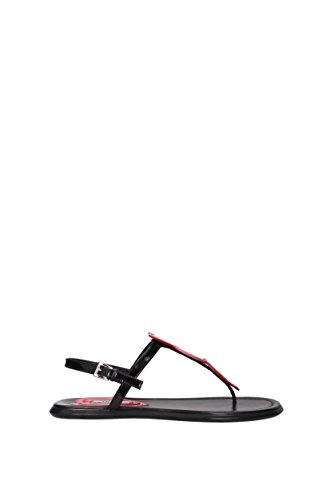 Black Flops Prada UK Women 1Y343H Patent Flip Leather 4ggZaF